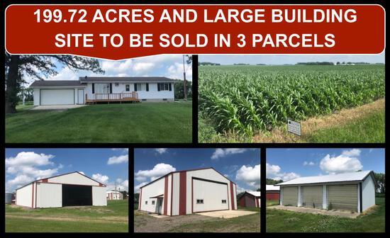 199.72 ACRES FARM LAND & FARM SITE REAL ESTATE