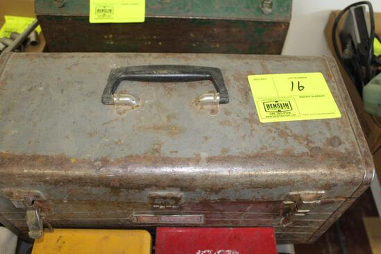 TWO TOOLBOXES WITH MISCELLANEOUS TOOLS