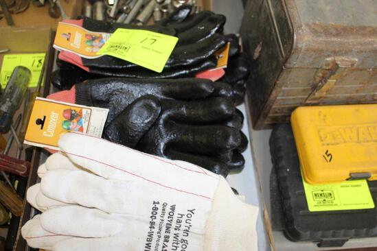 ASSORTED RUBBER AND COTTON GLOVES