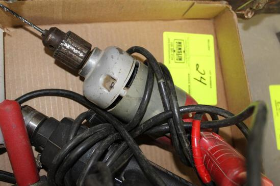 "MILWAUKEE 3/8"" DRILL, BLACK AND DECKER DRILL, AND MORE"
