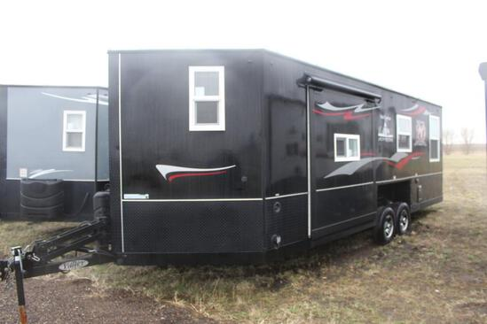 *** 2019 8'X24'V AMERICAN SURPLUS 20TH ANNIVERSARY ICE CASTLE FISH HOUSE ON VALLEY TANDEM AXLE