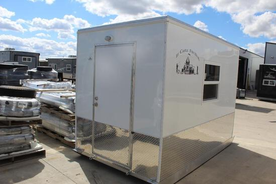 NEW 5.5' X 10' LITTLE SKIDDER ICE CASTLE FISH HOUSE, 6 HOLES, HOLE LIGHTS, LIGHTS
