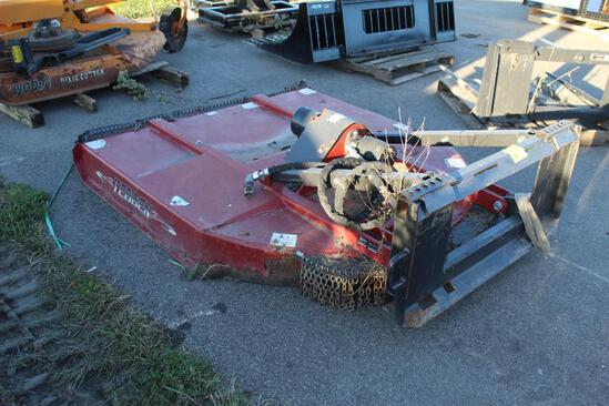 APPROX 5' TEBBEN QUICK TACH ROTARY MOWER, HYD DRIVE, TAX NO EXCEPTIONS