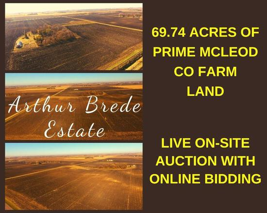 69.74 Acres of Prime McLeod Co Farm Land