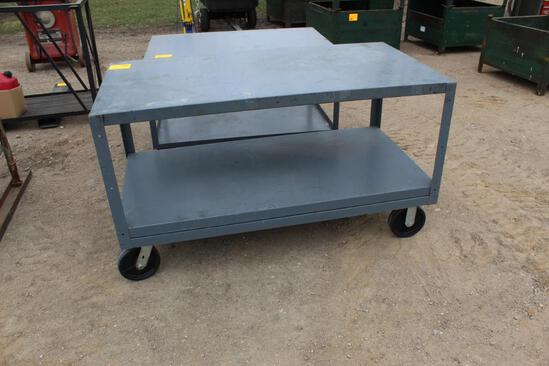 """30"""" x 60"""" HD Shop Rolling Carts on Caster Wheels"""