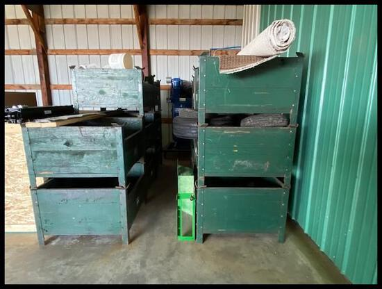 (5) 3' x 3' HD Stackable Parts Bins, 5 Times the Money