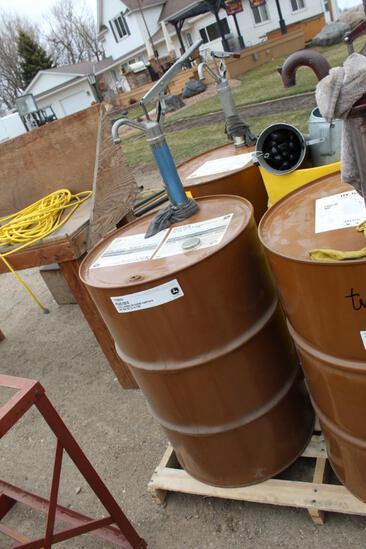 55 Gal Drum of John Deere Plus 50 II 10W-30 Engine, Approx. 25 Gallons