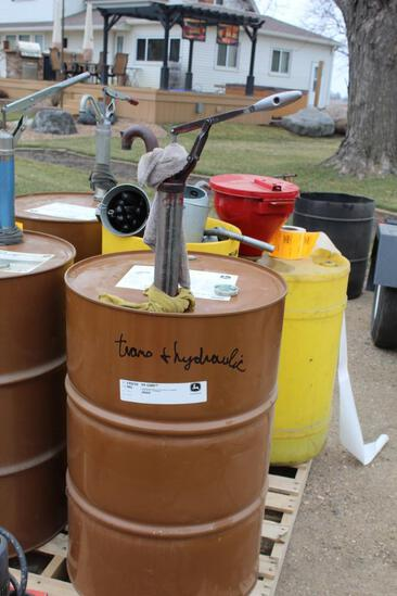 John Deere HY-Guard 55 Gal Drum of Oil, With Approx. 50 Gallons