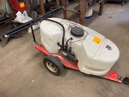 Fimco 30 Yard Sprayer on 2 Wheel Cart