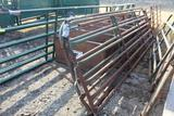 (2) APPROX 16' NORTHWEST MFG, STEEL CATTLE GATES $ X 2
