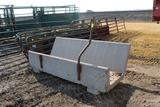 (11) 8' PRECAST CONCRETE J BUNKS WITH CABLE HOLDERS, SOME CABLE HOLDERS ARE BROKE $ X 11