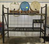 PALLET RACK SET UP FOR LUBE, WITH CONTENTS