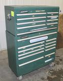 MASTER FORCE ROLLING TOOL CABINET, 11 DRAWER BOTTOM, 9 DRAWER TOP
