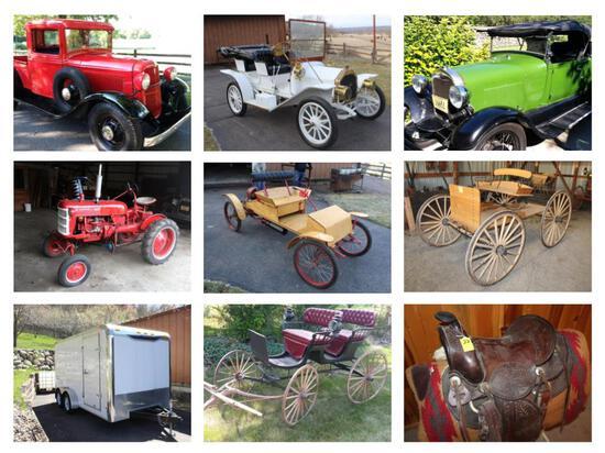 CLASSIC CARS, BUGGIES, FARMALL TRACTOR, HOBBY FARM