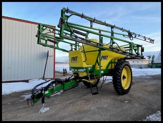 2012 Fast 9613 PT Sprayer, 1350 Gal Poly Tank, 90' Booms, TeeJet Triple Nozzle Bodies, 4 Section