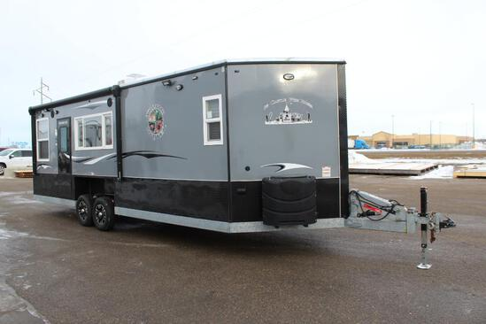 *** 2019 8' X 24'V AMERICAN SURPLUS ICE CASTLE TROPHY HUNTER, GS HYD. TANDEM AXLE GALVANIZED FRAME,