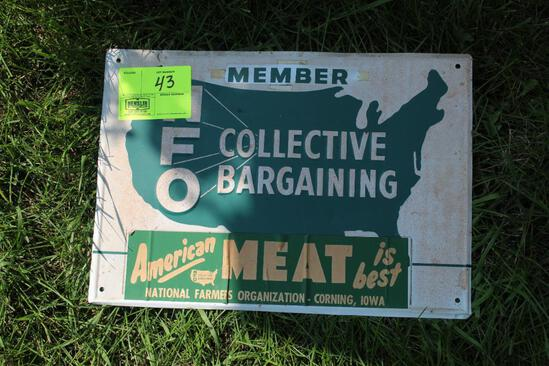 NFO TIN SIGN, SINGLE SIDED