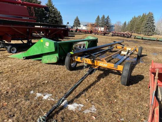 MODEL 2030 4-WHEEL HEAD TRAILER, FOR UP TO 20' HEAD