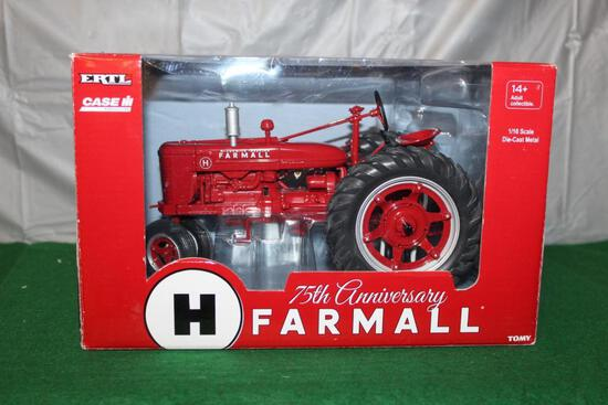 1/16 FARMALL H; NARROW FRONT; 75TH ANNIVERSARY; BOX HAS LIGHT WEAR
