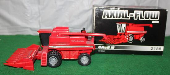 1/64 2188 ASIAL-FLOW COMBINE W/CORN HEAD; 1995 FARM SHOW EDITION; BOX HAS WEAR