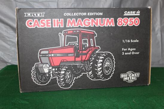 1/16 CASE IH 8950 MAGNUM, MFWD, COLLECTOR'S EDITION, BOX HAS LIGHT WEAR