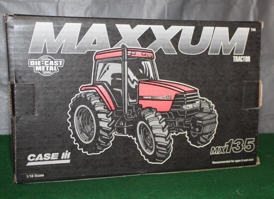 1/16 CASE IH MX135, MAXXUM, BOX HAS LIGHT WEAR