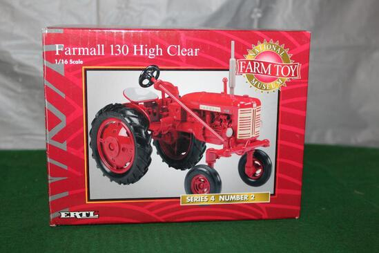 1/16 FARMALL 130, HIGH CLEAR, SERIES 4 NUMBER 2, NATIONAL FARM TOY MUSEUM, BOX HAS LIGHT WEAR