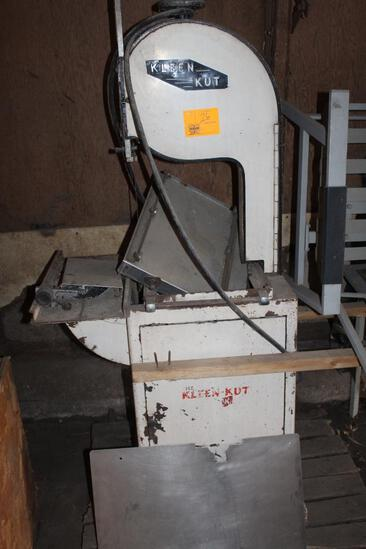Kleen-Kut Vertical Meat Bandsaw, Has Not Been Used In A While