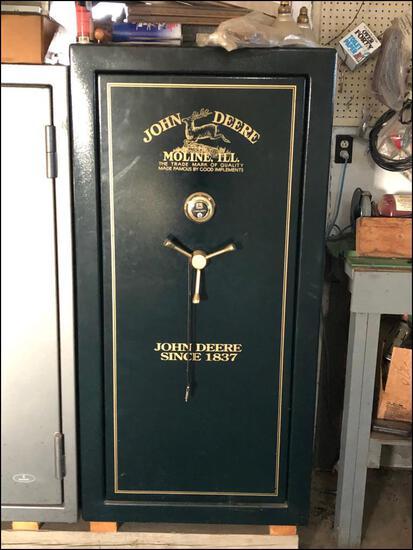 """John Deere Gun Safe, 60.5"""" High, 30"""" Wide, 22"""" Deep"""