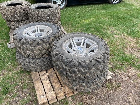 Alum Rims and Tires for Polaris Ranger, 26-11.00R14 and 26-9.00R14, One money for all tires