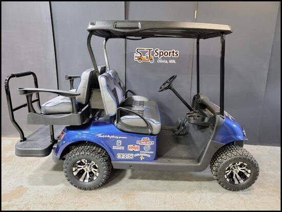 2015 RXV Chassis Refurbished in 2021: EZ GO Valor Gas EX1 Golf Cart with Custom Embroidered St.