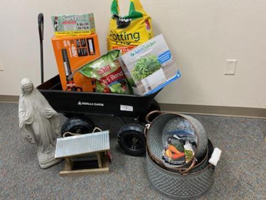4th Grade: Lawn and Garden Goodies- Gorilla 4 CU FT Poly Garden Cart, AeroGarden in Home Garden