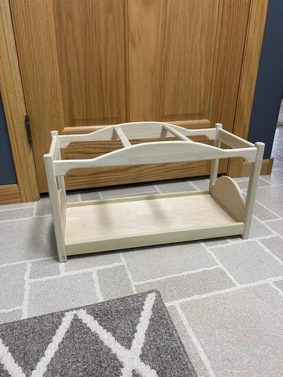 """Handmade 18"""" doll bed, Donated by Anonymous"""