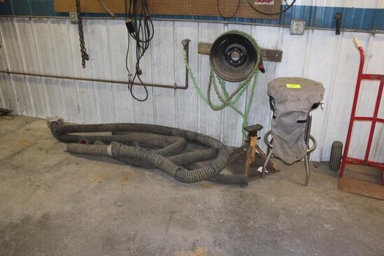 Yellow Jack Stand, Shop Stool, Exhaust Hoses