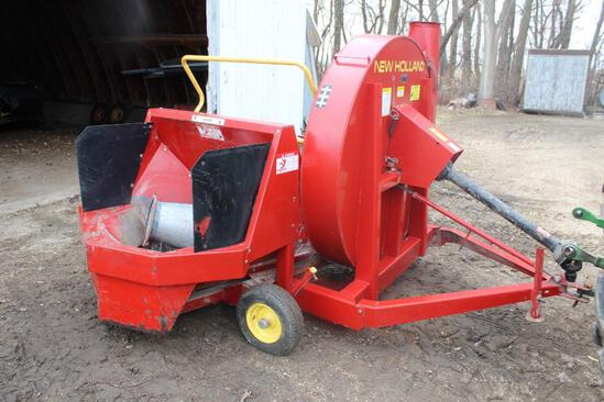 NEW HOLLAND 60 SILAGE BLOWER, EXT PIPE, 540 PTO, BOUGHT NEW, SHEDDED