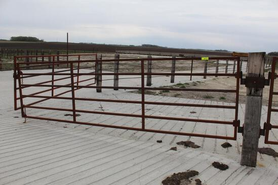 (2) APPROX 15' CATTLE GATES, $ X 2