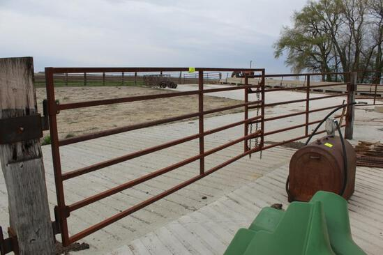 (2) APPROX 12' CATTLE GATES, $ X 2