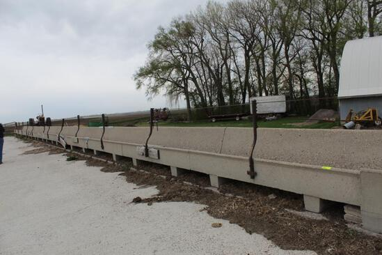 (12) 10' CEMENT J BUNKS AITH RAILS AND CABLE, (6) HAVE SOME DAMAGE, $ X 12
