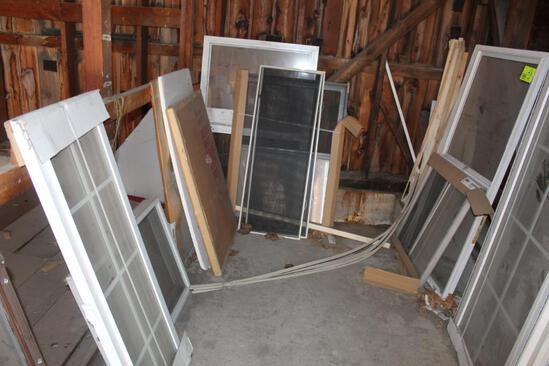 VARIETY OF WINDOWS AND SCREENS, USED