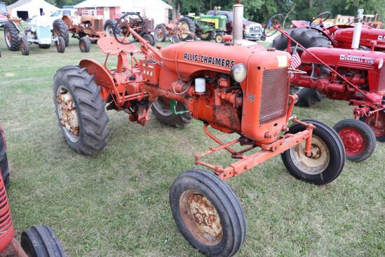 AC WD, NF, Like New 13.6-28 Tires w/ Weights, PTO, Fenders