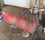 APPROX 120 GALLON PICKUP FUEL TANK, 12 VOLT GASBOY PUMP, AUTO NOZZLE