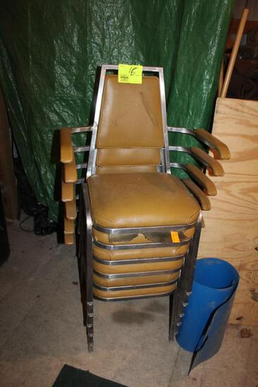 (6) STACKING CHAIRS WITH ARM RESTS