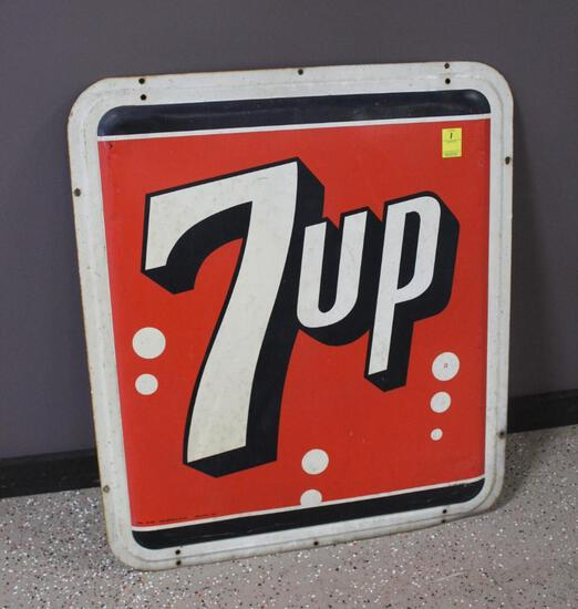 """31""""x36"""" 7Up Single Sided Metal Sign"""