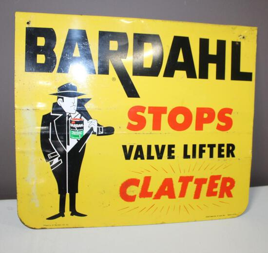 "17""x20"" Bardahl Stops Valve Lifter Clatter Metal Sign, Single Sided"