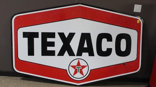 "54""x86"" Texaco Double Sided Porcelain Sign"