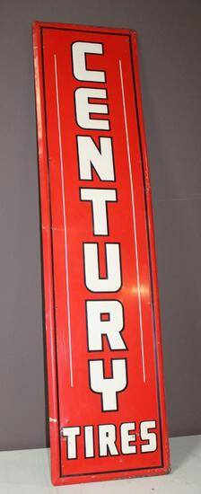 """18""""x72"""" Century Tire Metal Sign, Single Sided"""
