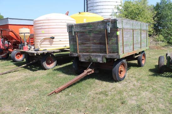 Wood Barge Box 6'X10', Big Butch Hoist on 4 Wheel Gear