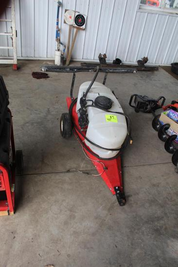 FINCO YARD SPRAYER, APPROX 25 GAL, PULL TYPE, BOOM AND WAND