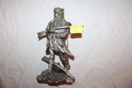 """""""The Fur Trapper"""" Pewter Sculpture by Jim Ponter, 1686/4500, 10"""""""