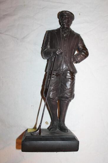 "Golfer, By Austin Sculptures, 1991, DeClear, 16"""